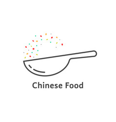 thin line chinese food logo vector image