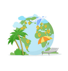 traveling destination location vector image
