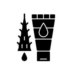 Using moisturizing lotion black glyph icon vector