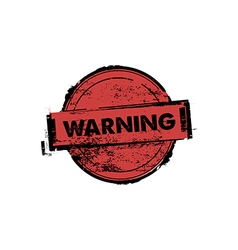warning stamp badges vector image