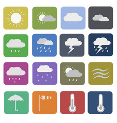 weather symbols icons vector image