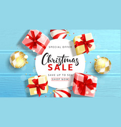 Web banner for christmas sale vector