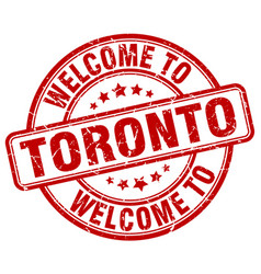 Welcome to toronto red round vintage stamp vector