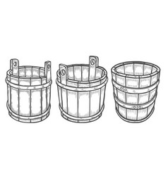 Wine or beer barrel isolated vector