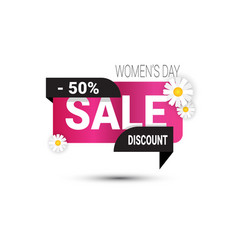 woman day discount sign template 8 march sale vector image