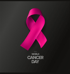 World cancer day abstract isolated awareness vector
