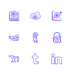 Yahoo tumblr linkedin nexus nxs crypto vector