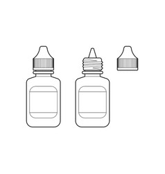 eye drop bottle isolate on white background vector image vector image