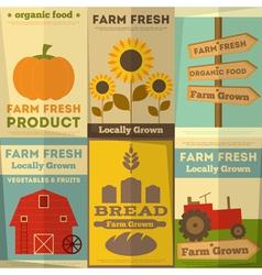 Farm food posters vector