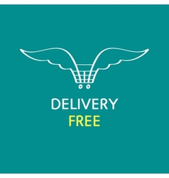 Free delivery logo vector image