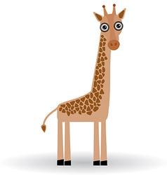 Funny Giraffe on white background vector image