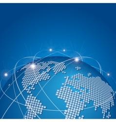 Global technology mesh network vector image
