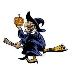 halloween witcher vector image vector image