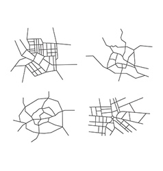 schemes of the cities - set vector image