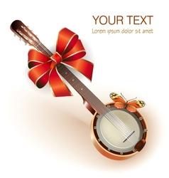 Traditional Mexican banjo vector image vector image