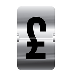 Alphabet silver flipboard letters pound vector image