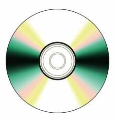 black cd vector image vector image