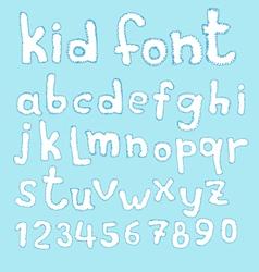 Doodle kid abc typeset vector image vector image