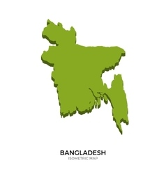 Isometric map of Bangladesh detailed vector image vector image