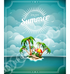 on a summer holiday theme vector image vector image