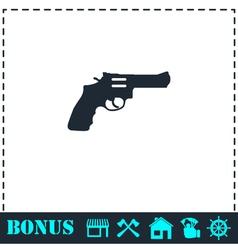 Revolver icon flat vector image