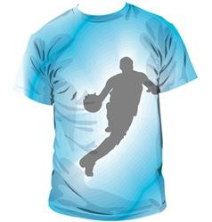 Basketball T-shirt vector image