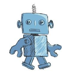 children robot vector image