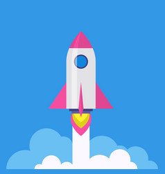 rocket - startup launch symbol vector image