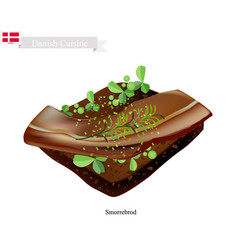 smorrebrod with roast beef the national dish of d vector image