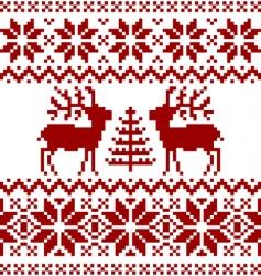 Christmas Norwegian pattern vector image