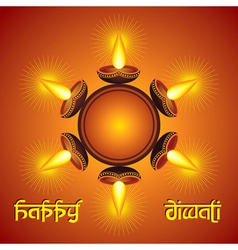 Diwali greeting background vector image vector image