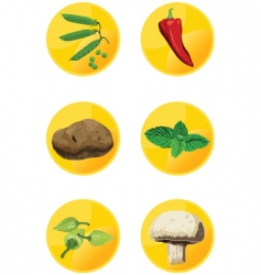 icon veggies vector image vector image