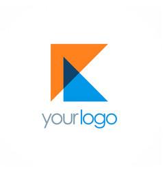 triangle letter k logo vector image