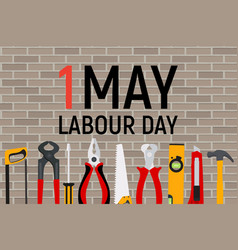1 may labour day poster or banner vector image