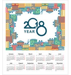 2018 calendar city vector image