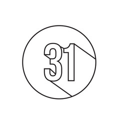 31 number lines icon symbol vector