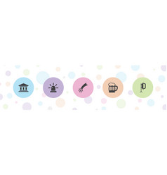 5 light icons vector