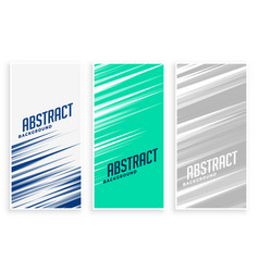 abstract banners with fast motion lines in three vector image