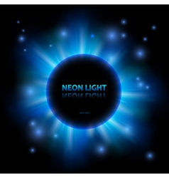 Abstract neon panet background vector