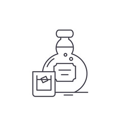 alcohol line icon concept alcohol linear vector image