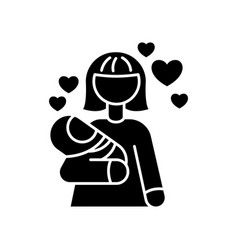 Babylover black glyph icon parenthood and vector