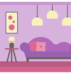 Background of modern living room vector image