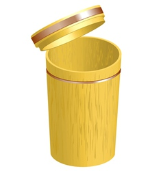 Bamboo container vector