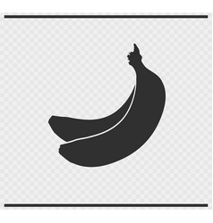 Banana icon black color on transparent vector