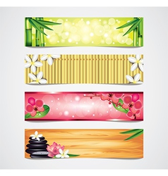 banners spa vector image