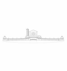 Basilica aparecida outline only vector