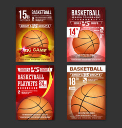 basketball poster set design for sport bar vector image