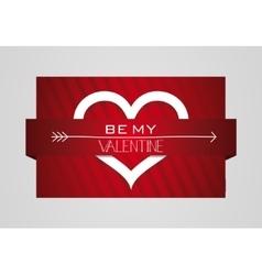 Be My Valentine Heart Symbol Card vector