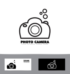 Black and white photography photo camera vector