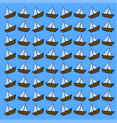 boat wallpaper on white background vector image